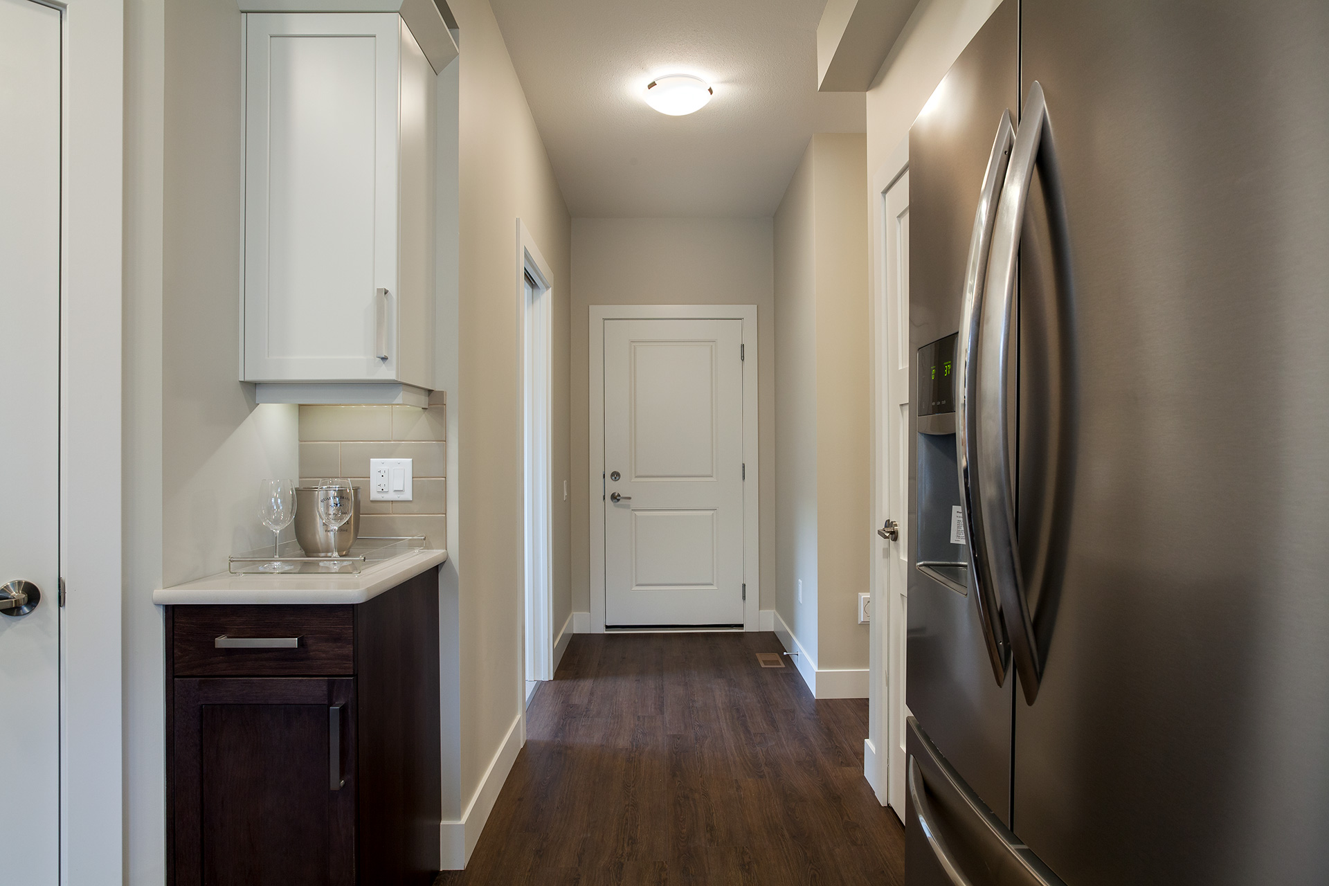 Hallway to garage & laundry