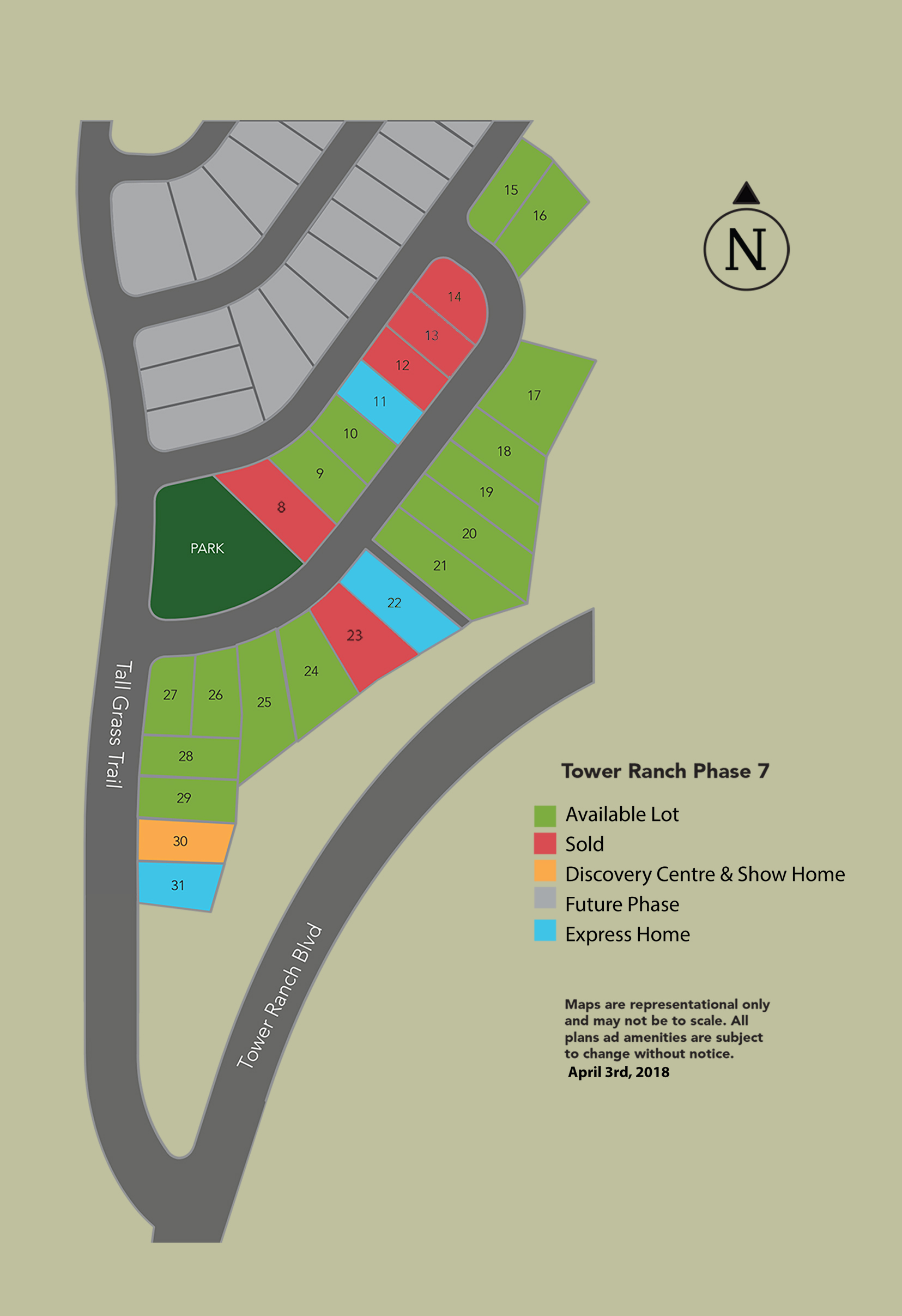 Tower Ranch Phase 7 Marketing Map For Print