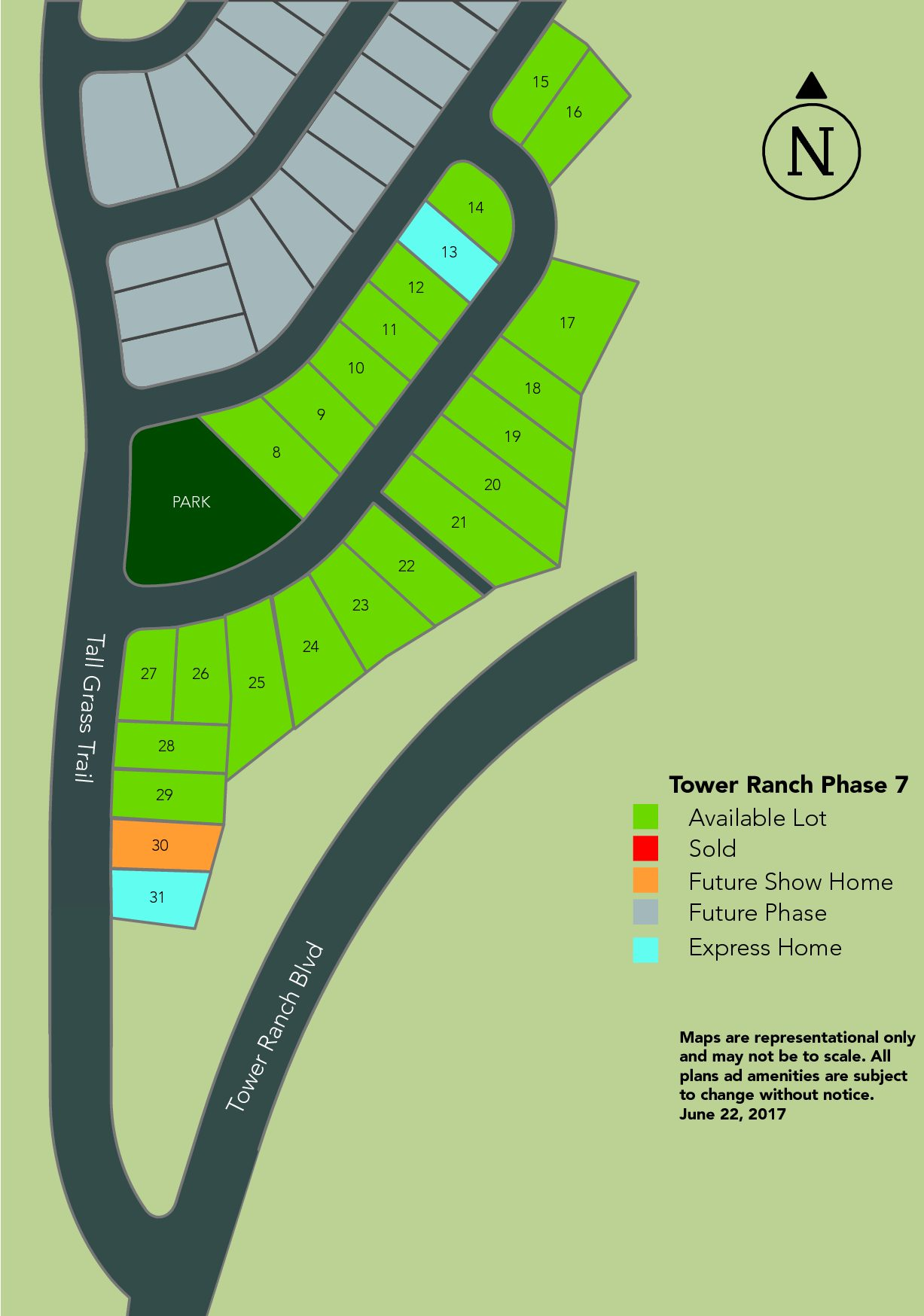Tower Ranch Phase 7 Marketing Map Layout