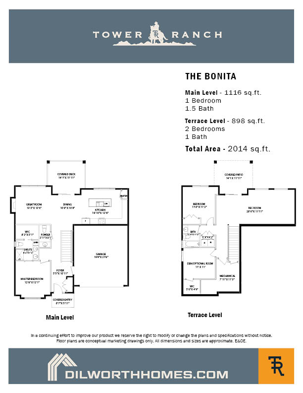 Tower Ranch, Bonita Floor Plan