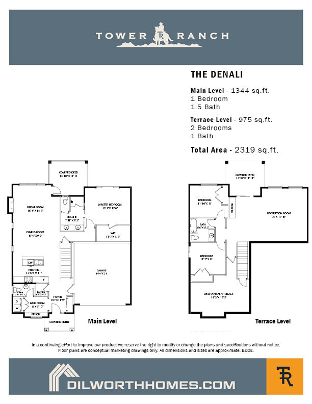 Tower Ranch, Denali Floor Plan
