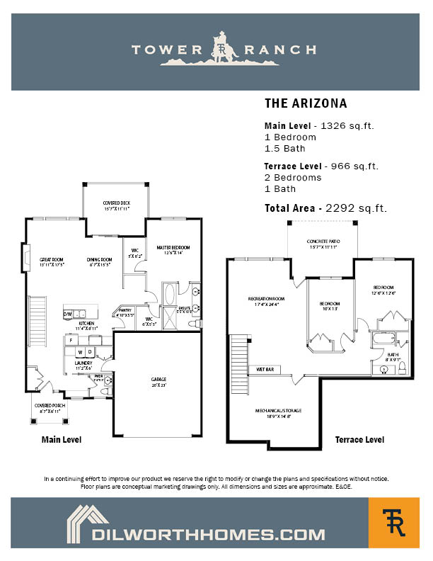 Tower Ranch, Arizona Floor Plan
