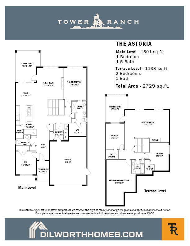 Tower Ranch, Kelowna, Astoria Floor Plan