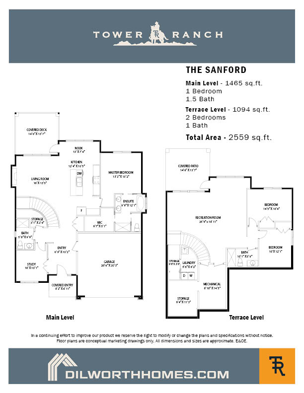 Tower Ranch, Kelowna, Sanford floor plan